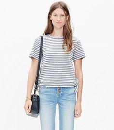 Madwell Side-Tie Crop Tee