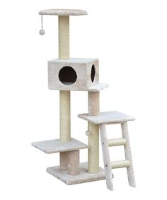Look what I found on #zulily! Neat Three-Level Cat Condo by PetPals #zulilyfinds
