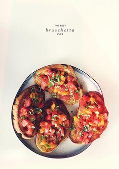 Best Bruschetta Ever via Almost Makes Perfect