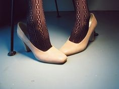 vintage Blonde Pumps ivory snakeskin by TheVintageApartment, $24.00