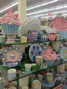 Cupcake love at Hobby Lobby I NEED it all to go with the rest of my cupcake stuff!!!!!!