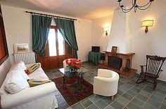 Villa Bianca: Ferienhaus in Syrakus Isola - Wohlfühlatmosphäre im Wohnzimmer - www.sizilien-ferien.de
