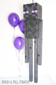 Enderman Pinata | Minecraft Birthday | Minecraft Party | Kids Decor | Bedroom…