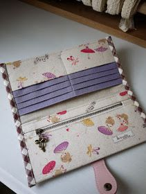 artchala handmade: Little Ballerina Long Wallet (purple red)