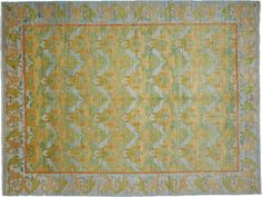 "Arts, Oriental Rug 9 x 12 Blue Wool Area Rugs - 8' 10"" x 11' 10"" – Solo Rugs"