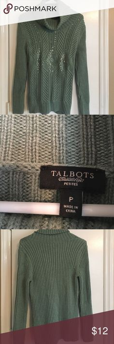 Talbot's Chunky Sweater Great quality and excellent condition! Chunky sweater with a beautiful pattern. Talbots Sweaters Cowl & Turtlenecks