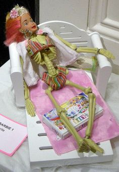 anorexic barbie by Debbie Fimrite--sad but instructive...