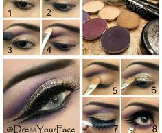 Purple and Gold Glitter Eyes