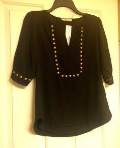 41Hawthorn Moni Stud Detailed 3/4 Sleeve Blouse ($58) -- Stitch Fix