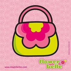 Flower Belles cute little handbag is full of magic dust for sprinkling on all the flowers to make them bloom! :)