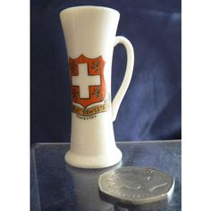 Goss Crested China - Model Of Ancient Tyg - Oswestry Crest