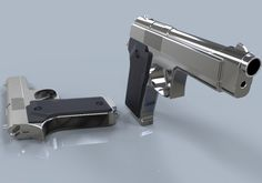 3D Model PISTOL c4d, obj, 3ds, fbx, ma, lwo 95648