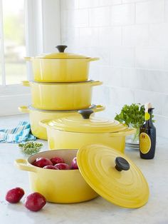 Le Cruset - I just love the sunshine yellow. #LGLimitlessDesign #Contest