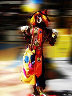 Colourful clown