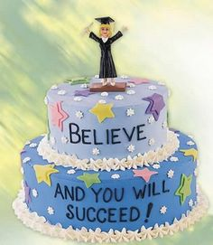 The sky?s the limit for this lucky graduate! Graduation Mindset cake urges them .-The sky?s the limit for this lucky graduate! Graduation Mindset cake urges them … The sky?s the limit for this lucky graduate! Fancy Cakes, Mini Cakes, Cupcake Cakes, Cupcake Ideas, Wilton Cake Decorating, Cake Decorating Tools, Decorating Ideas, Beautiful Cakes, Amazing Cakes