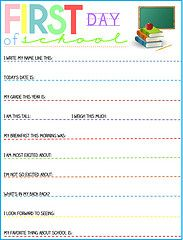 1st Day of School Photo Sign   Printable