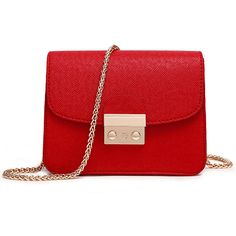 Red Solid Color PU Bag (940 DOP) ❤ liked on Polyvore featuring bags, handbags, bolsas, purses, red bag, pu purse, purse bag, polyurethane bags and red hand bags