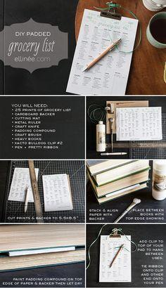 DIY Grocery List Pad Tutorial