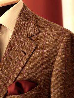 """sartoriacresent: """" Oatmeal Tweed Jacket with purple plaid. Merry Christmas for all gentleman! """""""