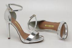 Sandália - salto alto - heels - prata - brilho - summer - Verão 2016 - Ref. 15-18207