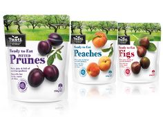 Brother Design / TASTI READY TO EAT FRUIT Taking you straight to the source with beautiful fruit and a natural orchard setting. Pouch Packaging, Fruit Packaging, Food Packaging Design, Coffee Packaging, Bottle Packaging, Packaging Design Inspiration, Brand Packaging, Organic Snacks, Beautiful Fruits