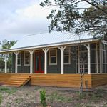 16x30 Cottage Cabin with 8ft Screen Porch.  Complete with extended open front porch, side screen porch, full bath, kitchen, sleeping loft, and spacious living area. http://www.kangaroomsystems.com/kanga-room-gallery/customer-gallery-16x30-cottage-cabin-with-8ft-screen-porch/