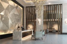 Residential Designers London and Residential Design Studio London - Goddard Littlefair Architects specialising in hospitality and residential design Hotel Lobby Design, Hotel Interiors, Office Interiors, Hotel Foyer, Lobby Lounge, Lobby Bar, Hotel Reception, Reception Design, Lobby Interior