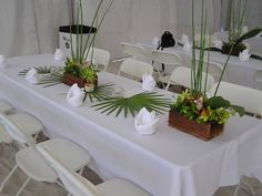 Table Layout at Luau Reception