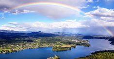 Maria Wörth, Klagenfurt, River, Outdoor, Austria, Annual Pass, Rainy Weather, Road Trip Destinations, Rain Bow