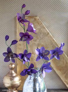 DIY Metallic Paper Dendrobium Orchids www.liagriffith.com