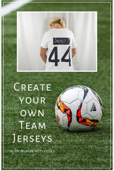 Create your own team jersey's using NuFun transfer paper!