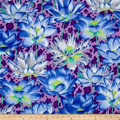 Philip Jacobs Leopard Lotus Purple from @fabricdotcom  Designed by Philip Jacobs for Rowan in conjunction with the Kaffe Fassett Collective, this cotton print collection features bold prints and bold colors. Colors include blue, green, white, and purple.