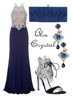 """Blue Crystal"" by missloulouxx ❤ liked on Polyvore featuring Jovani, René Caovilla, Jessica McClintock and Dolce&Gabbana"