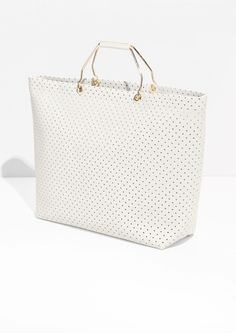 & Other Stories | Perforated Leather Tote
