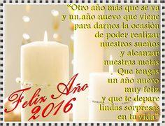 Frases de fin de año 2016 con velas blancas y luces