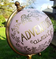 CUSTOMIZE AND/OR PERSONALIZE THIS GLOBE FREE OF CHARGE: Since this globe is made to order, you are able to personalize the text on the globe.