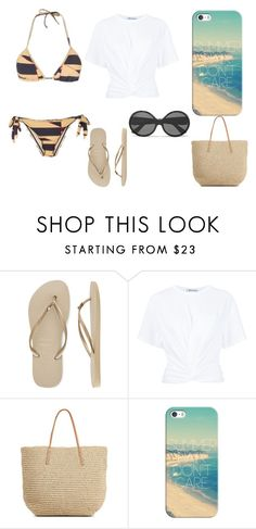 """""""Sem título #100"""" by kety-de-jesus ❤ liked on Polyvore featuring Havaianas, T By Alexander Wang, Target, Casetify and Yves Saint Laurent"""