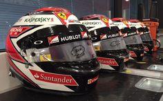 Kimi's selection of helmets