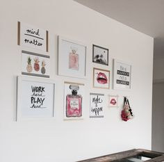 My gallery wall I created in my lounge. Using washi tape and a few frames! Love how it turned out!