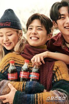 190207 박보검의 '매직'은 바로 이것, 추위도 녹여버리는 달콤 미소 Park Go Bum, Bo Gum, Asian Men, Coca Cola, Korean Actors, Actors & Actresses, Winter Hats, Singer, Celebrities