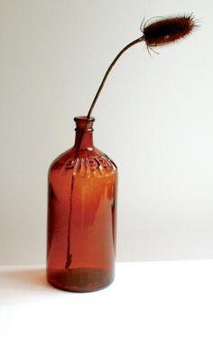 Vintage Purex Brown Glass Bottle by blackbirdvintage for $15.00