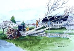 Sketchy Everett Volume 5 - Windstorm Aftermath - by Elizabeth Person — LIVE IN EVERETT