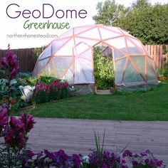 How to build a GeoDome greenhouse, What materials to use. What plan to go by and tools needed. How to do the cutting. How to assemble and cover the GeoDome.