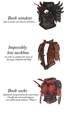 Know your armor, breastplate.  Inspired by The Female Armor Bingo, I present to... at Yana's tumblr