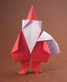 Papai noel em origami; Porto Alegre Origami
