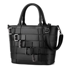 New Design Women's Fashion Leather Messenger Bag Pu Leather Tote Bags Buckle Shoulder Bags Women Bags