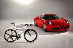 The Alfa Romeo 4C IFD Bicycle is priced at $4,700
