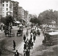 Old Images of New York Group  Broadway and City Hall Park, 1867.