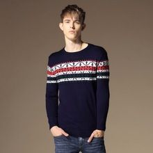 2015 fashion printing sweater men sudaderas imported-clothing pull homme Christmas gift pullover men sweaters(China (Mainland))
