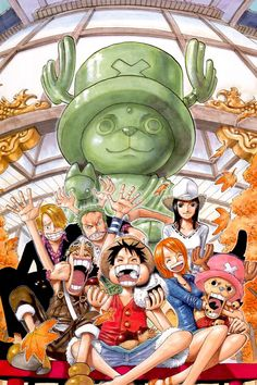 One Piece ~ Straw Hat Pirates -- Monkey D. Luffy, Roronoa Zoro, Usopp, Nami, Sanji, Tony Tony Chopper, and Robin